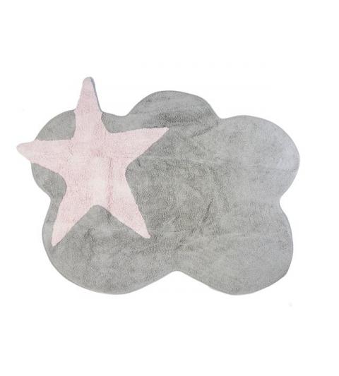Alfombra mimosa gris_rosa
