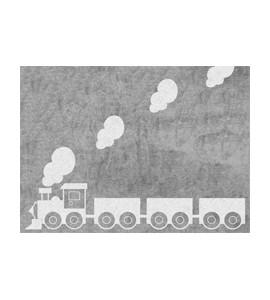 Alfombra tren gris