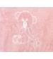 Alfombra oso rosa