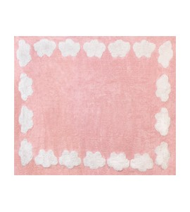 Alfombra nube rosa