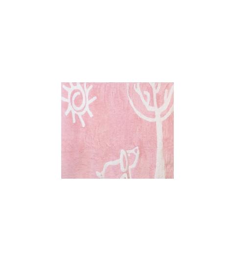Alfombra verano rosa