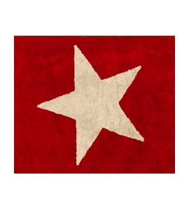 Alfombra estela rojo/beige
