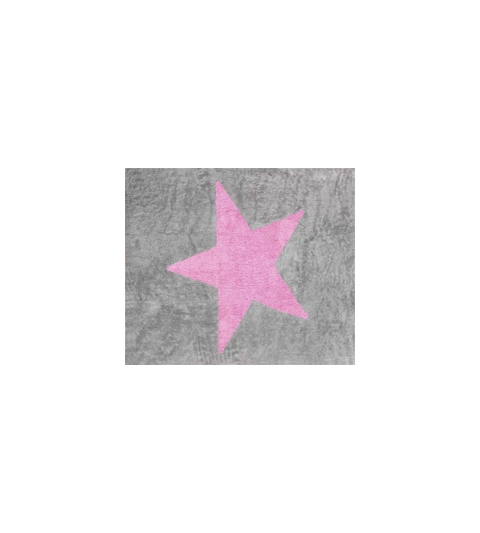 Alfombra estela gris/rosa