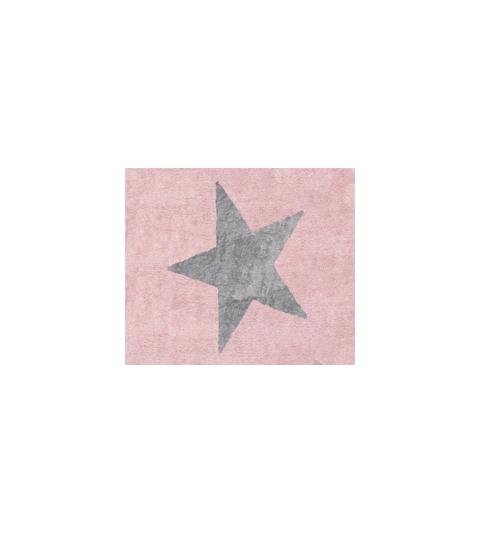 Alfombra estela rosa/gris