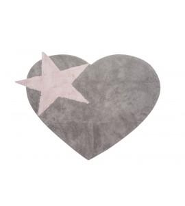 Alfombra peace gris/rosa