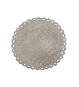 Alfombra crochet gris