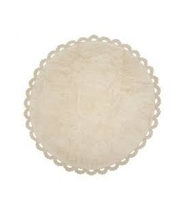 Alfombra crochet beige