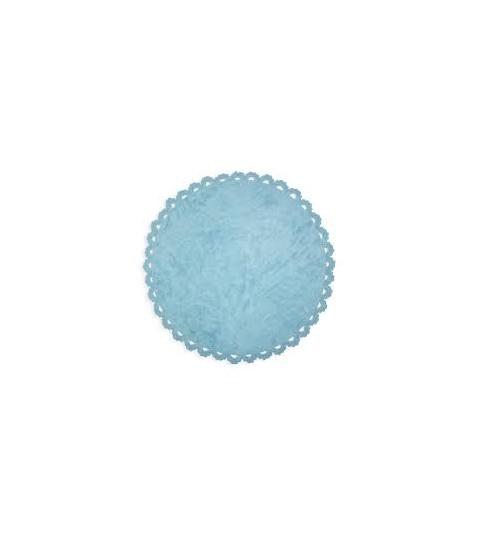Alfombra crochet azul