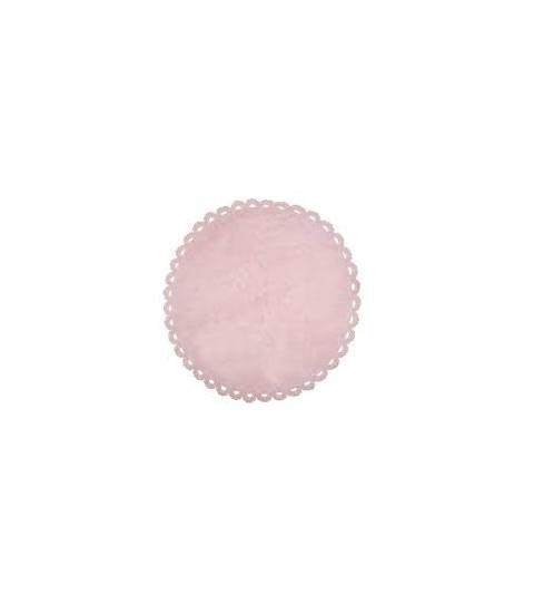 Alfombra crochet rosa