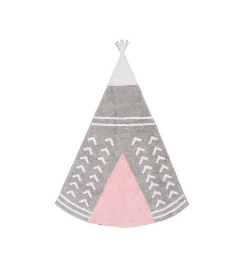 Alfombra arizona gris/rosa