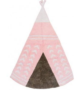Alfombra arizona rosa/gris