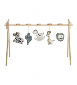 Gimnasio madera + 5 figuras tricot