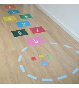 Adhesivo juego colores - tresxics