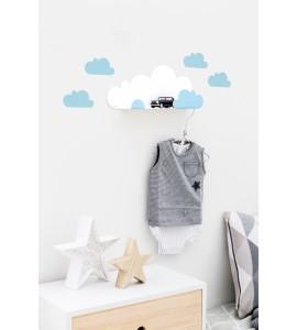 Estante nube  con nubes adhesivas-tresxics