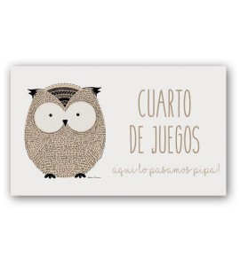 Placa de puerta Little Animals Owl